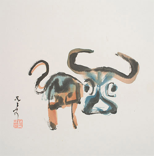 Year of the Ox by H. H. Wong 黃可鏗(Chinese Painting/Drawing)