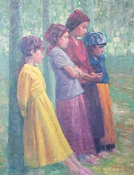 Four Chinese Girls by Fred Salmon