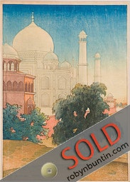 Taj Mahal, Sunset by Charles W. Bartlett