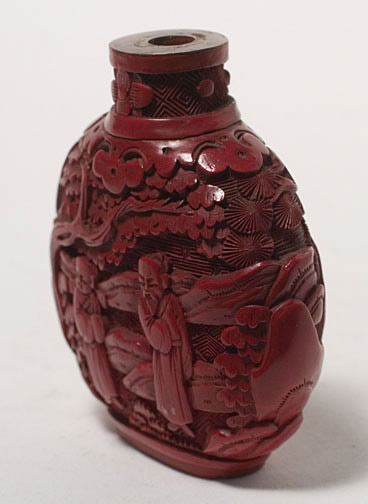 Lacquer Snuff Bottle(Chinese Sculpture)