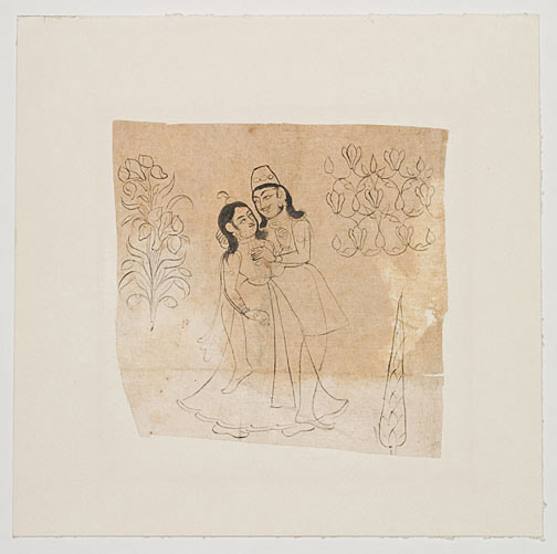 Erotic Indian Sketch(Indian Painting/Drawing)