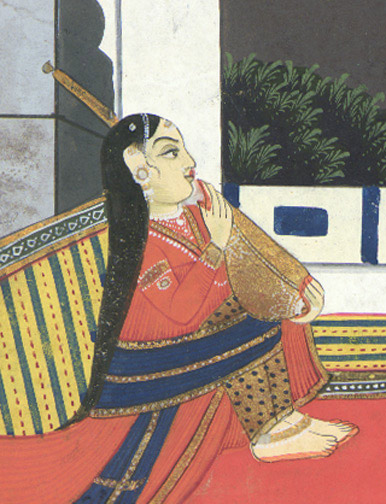 Musician on the Veranda(Indian Painting/Drawing)