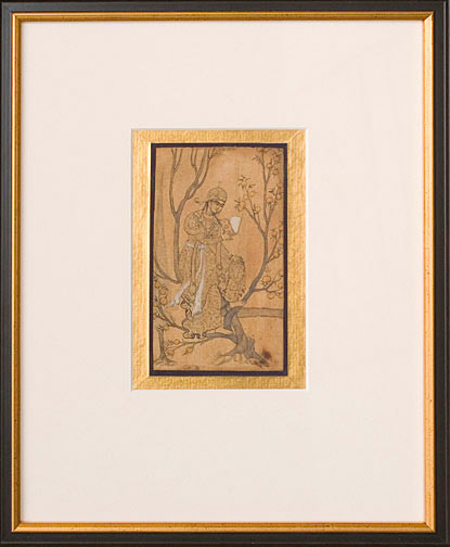 Moghul Painting of an Aristocrat(Indian Painting/Drawing)