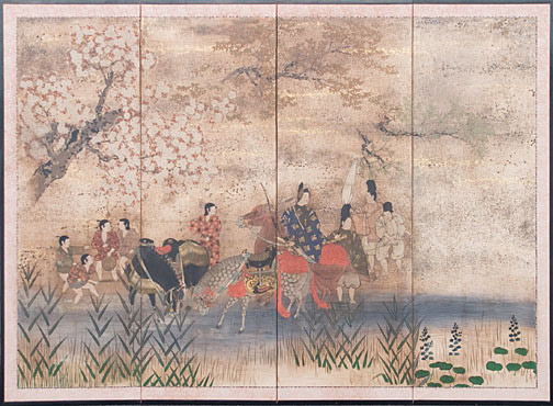 Heian Period Outing(Japanese Screen)