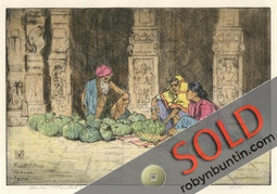 Fruit Sellers, Madura, India (22/75) by Charles W. Bartlett