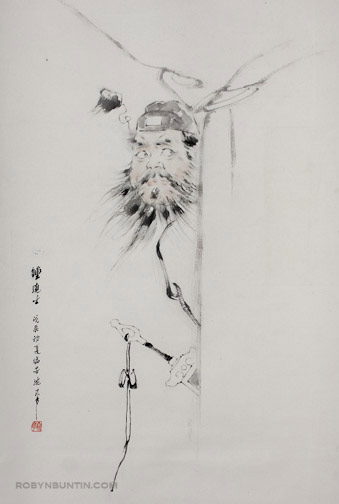 Zhong Guei the Demon Queller by Shen Xuehua(Chinese Scroll)