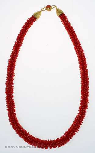 Red Coral Necklace by Tomi(Hawaiian Jewelry)