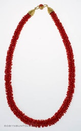 Red Coral Necklace by Tomi