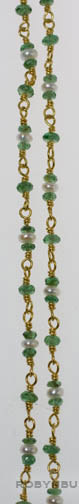 Tsavorite & Pearl Necklace by Tomi(American Jewelry)