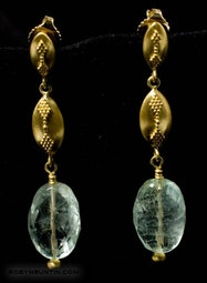 Gold & Beryl Earrings by Tomi