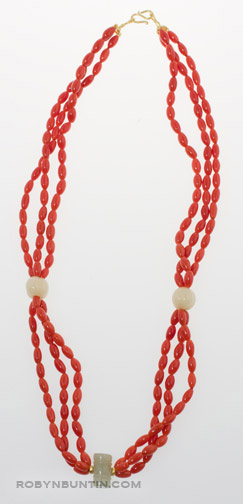 Coral Necklace by Tomi(Hawaiian Jewelry)