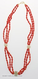Coral Necklace by Tomi