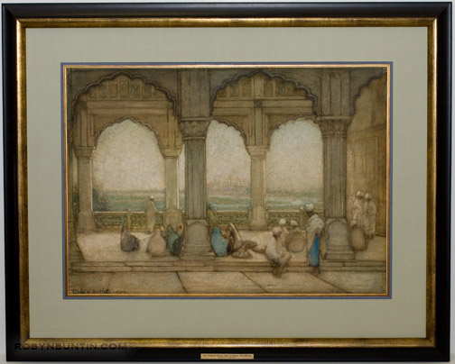 Taj Mahal From The Golden Pavilion, Agra by Charles W. Bartlett(Indian Painting/Drawing)