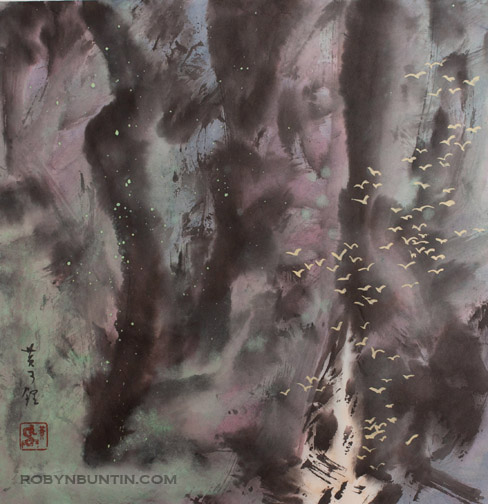 The Old Gorge by H. H. Wong 黃可鏗(Chinese Painting/Drawing)