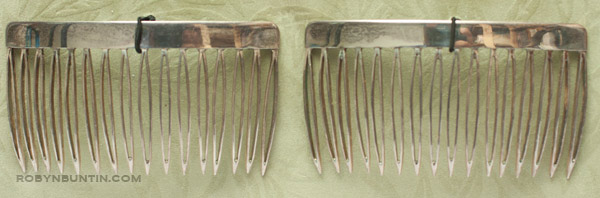 Pair of Silver Combs(Japanese Jewelry)