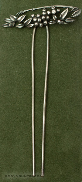 Silver Floral Hairpin(Japanese Jewelry)